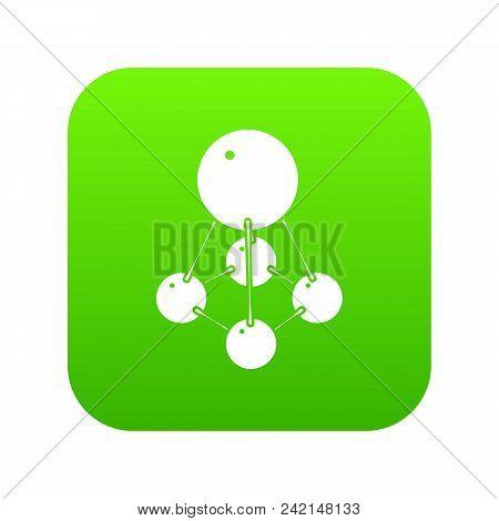 Nitromethane Icon Green Vector Isolated On White Background