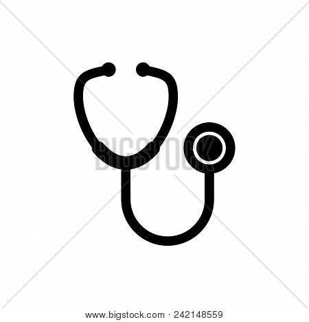Stethoscope Vector Icon Flat Style Illustration For Web, Mobile, Logo, Application And Graphic Desig