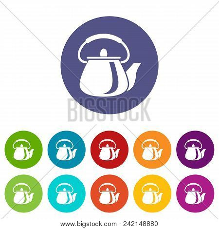 Domestic Teapot Icon. Simple Illustration Of Domestic Teapot Vector Icon For Web