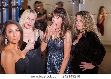 Women Reacting To Gossip Or Dirty Joke
