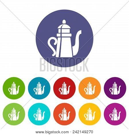 Tall Teapot Icon. Simple Illustration Of Tall Teapot Vector Icon For Web