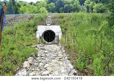 Urban Sewerage Hole, Urban Wastewater Pipes In The City