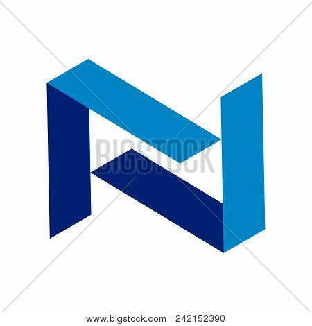 Abstract Initial N Vector Symbol Graphic Logo Design