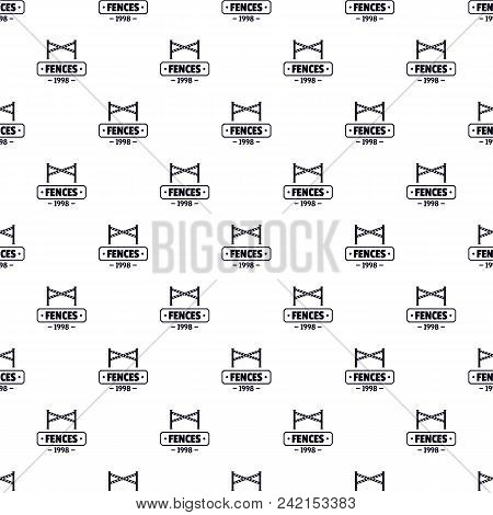 Fence Police Pattern Vector Seamless Repeat For Any Web Design