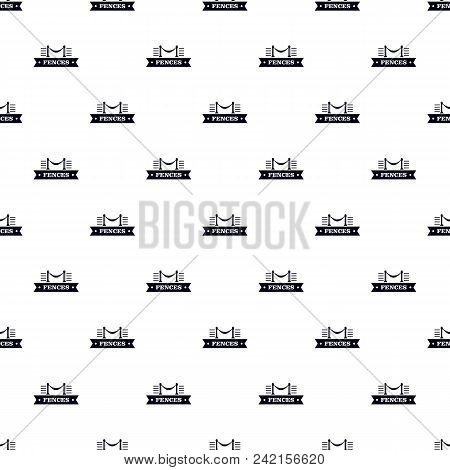 Fence Parade Pattern Vector Seamless Repeat For Any Web Design