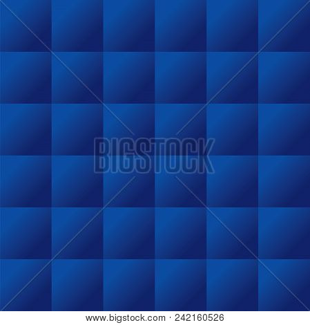 Seamless blue padded upholstery pattern background texture poster