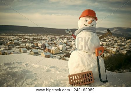 Happy New Year With Snowman. Snowmans Happy Couple. Snowmans Celebration. Happy Holiday And Celebrat