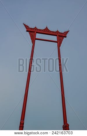 Giant Swing In Bangkok, Thailand. The Giant Swing Is A Religious Structure In Phra Nakhon, Bangkok,