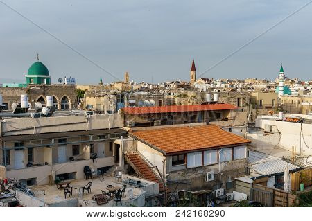 Acre, Israel - March 23, 2018: View On The Old City Of Akko