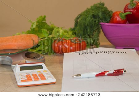 Vegetables Still Life, Diet And Nutrition Concept. Low-calorie Fruit Diet. Diet For Weight Loss