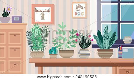 Interior Flowers Vector Photo Free Trial Bigstock Fascinating Apartment Design Painting