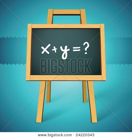 Chalkboard vector with x y=? text