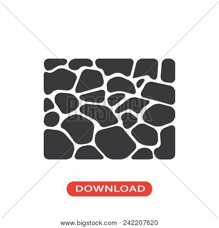 Stones Floor Vector Icon Flat Style Illustration For Web, Mobile, Logo, Application And Graphic Desi