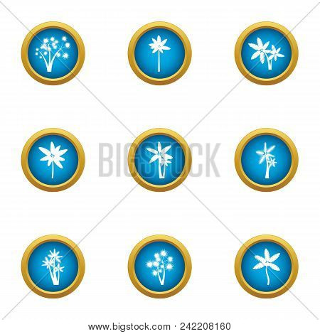 Florescence Icons Set. Flat Set Of 9 Florescence Vector Icons For Web Isolated On White Background
