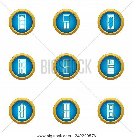 Entrance Icons Set. Flat Set Of 9 Entrance Vector Icons For Web Isolated On White Background