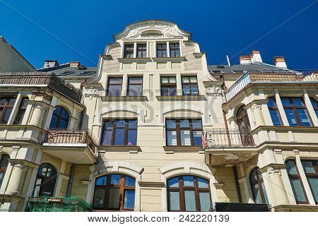 Art Nouveau Facade Of The Building  In Poznan