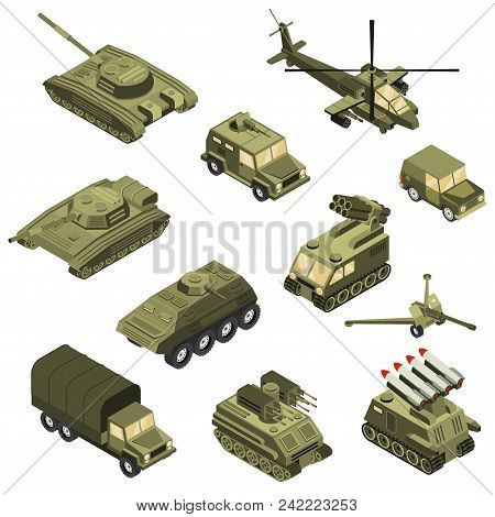 Military Armored Transportation Cargo Personnel Carrier Fighting Land Vehicles And Helicopter Isomet