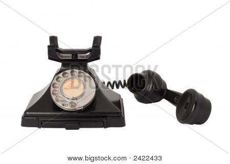 Antique Telephone Off The Hook