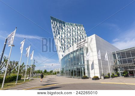 Copenhagen, Denmark - May 22, 2018: Ac Bella Sky Hotel, Convention And Congress Center In Orestad Di