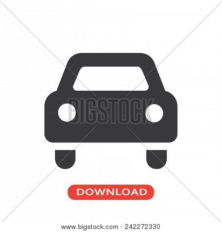 Car Vector Icon Flat Style Illustration For Web, Mobile, Logo, Application And Graphic Design. Car V