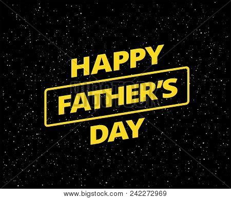 Happy Father's Day Card Vector Space Background