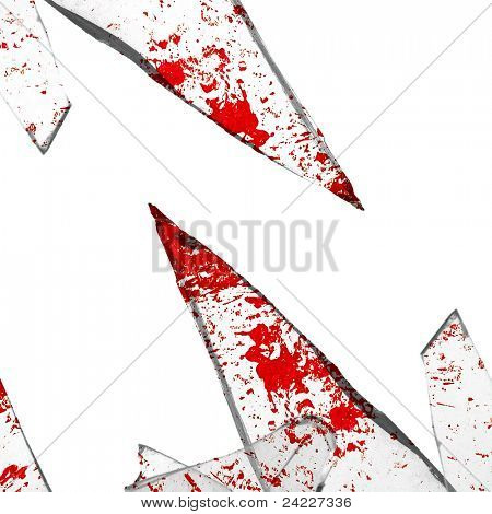 bloody cracked glass