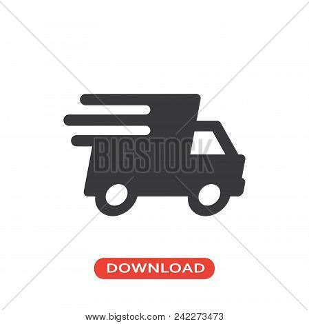 Small Truck Vector Icon Flat Style Illustration For Web, Mobile, Logo, Application And Graphic Desig