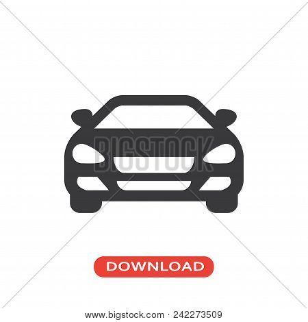 Sedan Car Vector Icon Flat Style Illustration For Web, Mobile, Logo, Application And Graphic Design.