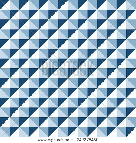 Seamless Geometric Stud Pattern Background In Tones Of Blue