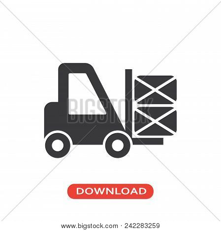 Packages Transportation Vector Icon Flat Style Illustration For Web, Mobile, Logo, Application And G