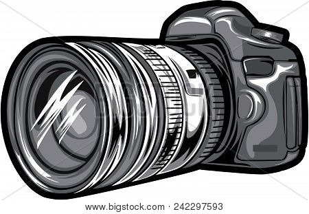 Camera, Icon, Vector, Photo, Illustration, Photography, Design, Digital, Technology, Lens, Symbol, E