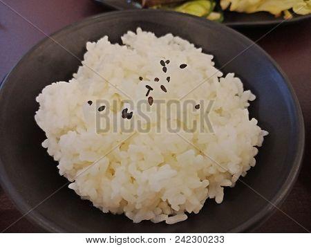 Rice In Bowl Black
