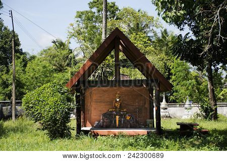 Hermit Statue For Thai People Visit And Respect Praying At Wat Kiean Bang Kaew In Khao Chaison Distr