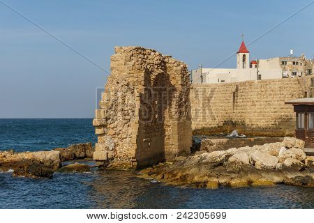 Acre, Israel - March 23, 2018: Church Of St. Andreas In The Old City Of Akko