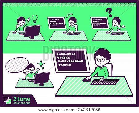 2tone Type Green Clothing Glasses Boy_set 04