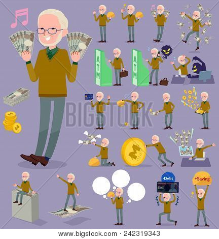 Flat Type Yellow Ocher Knit Old Man White_money