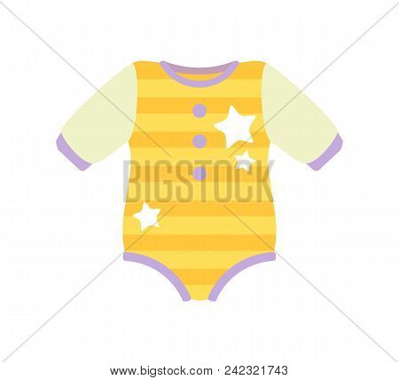Baby Clothes, Poster With Romper Suit Fo Kids, Clothing With Stripes And Stars, Fashion For Children
