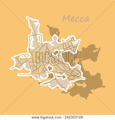 Mecca Map Saudi Vector & Photo (Free Trial) | Bigstock