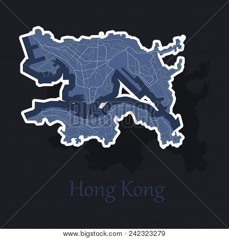 Stickers In Form Of Hongkong Logo Icon