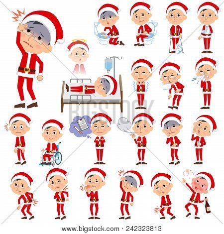 Set Of Various Poses Of Santa Claus Costume Dad_sickness