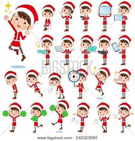 Set Of Various Poses Of Santa Claus Costume Mom_2