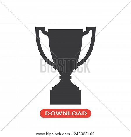 Trophy Vector Icon Flat Style Illustration For Web, Mobile, Logo, Application And Graphic Design. Tr