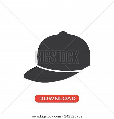 Baseball Cap Vector Icon Flat Style Illustration For Web, Mobile, Logo, Application And Graphic Desi