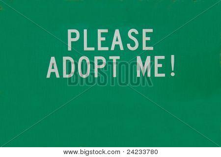 Adoption sign