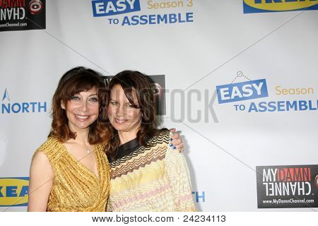 LOS ANGELES - OCT 10:  Illeana Douglas, Mary Lynn Rajskub arriving at the Web-series