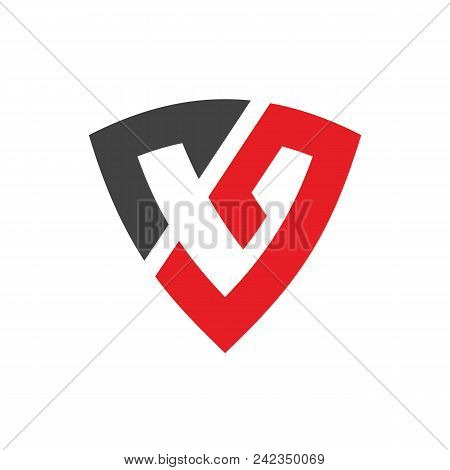 Initial Alphabet Cg Or C9 Combined With Shield, Vector Logo Design