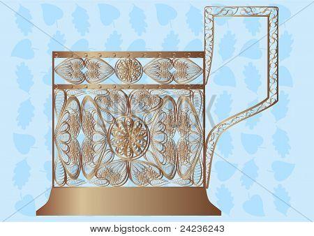 Glass holder.