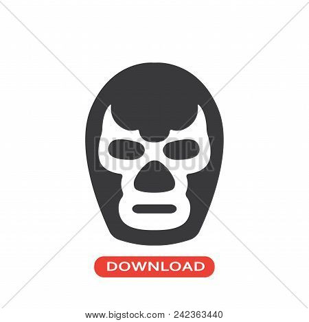 Fighter Mask Vector Icon Flat Style Illustration For Web, Mobile, Logo, Application And Graphic Desi