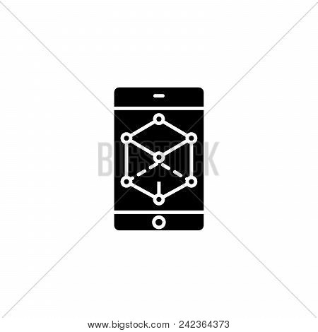 Business Perspective Black Icon Concept. Business Perspective Flat  Vector Website Sign, Symbol, Ill