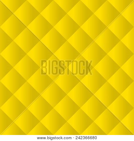 Seamless yellow padded upholstery pattern background texture poster